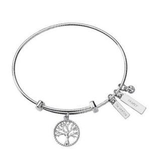 Lia Sophia Silver Tone Family Tree Bracelet